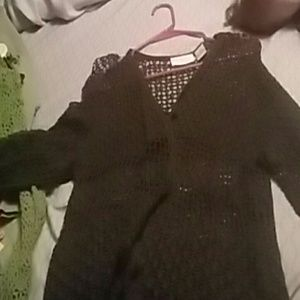 Netted cardigan