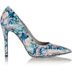 MSGM Shoes - MSGM blue rose floral pumps size 38