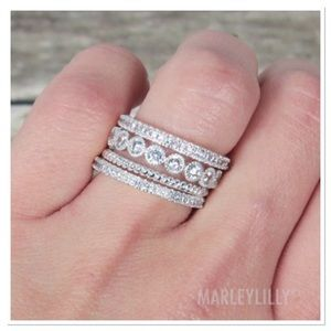Marleylilly Jewelry - 🌺HOST PICK🌺 Marleylilly Rhinestone Ring Stack