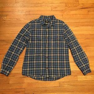 A.P.C. Other - A.P.C. Mens l/s blue plaid button up shirt - Med