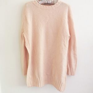 Zara Sweaters - Zara Peach Side Slit Oversized Knit Sweater 🍑