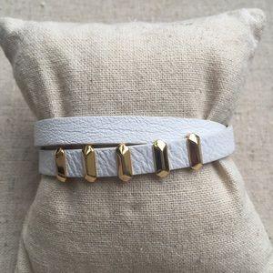 Stella & Dot Leather Remy Wrap Bracelet
