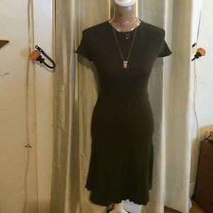 Olive vintage sweater dress