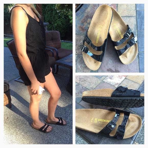 e801f14a708 Birkenstock Shoes - BLack Patent Leather Ibiza Birkenstocks