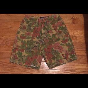 80s Gap High Waist Floral Shorts