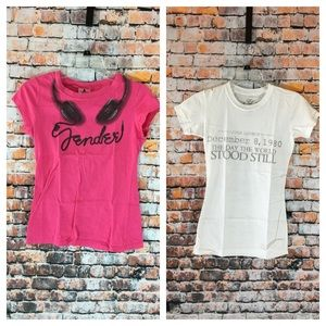 Fender tee size S and English Laundry tee size  S