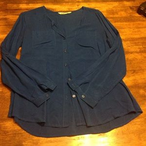 Tops - Royal blue button up