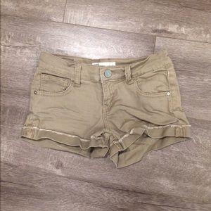 Pants - Tan Denim Shorts