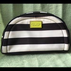 Black and white make up bag