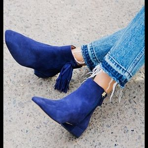 Free People Spring In Paris Boot Navy  NWT