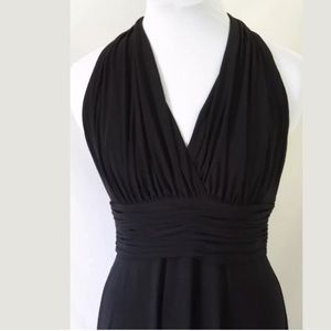 Evan Picone Dresses & Skirts - Size 8 Evan-Picone black ruched halter dress!