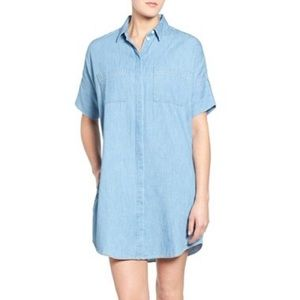 Denim Collared Shirt Dress