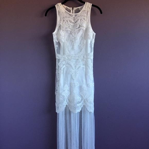 b89e0c10ddf H M Dresses   Skirts - H M Maxi Sheer Lace Dress ...