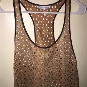 Gold Mesh Crop Top