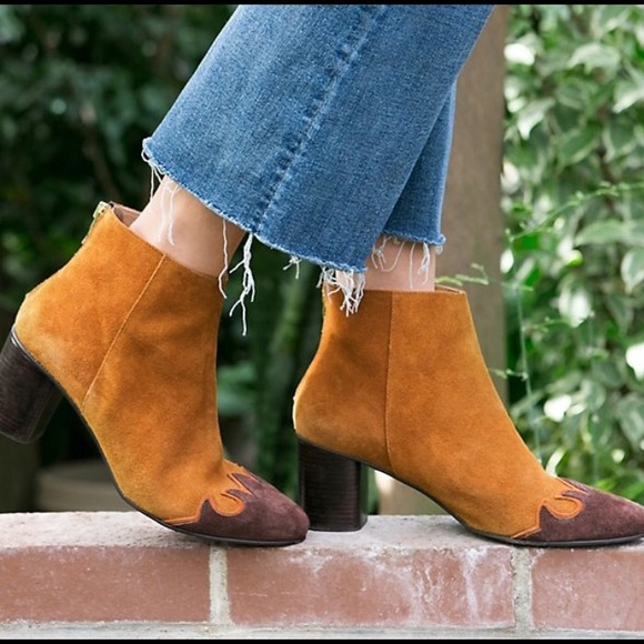 Free People Shoes - Free People Adelle Ankle Boot Brandy Suede