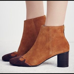Free People Adelle Ankle Boot Brandy Suede