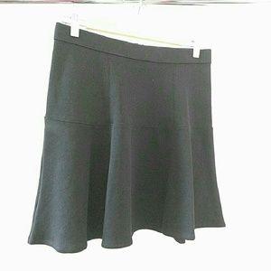 Madewell black wavelength skirt size 6