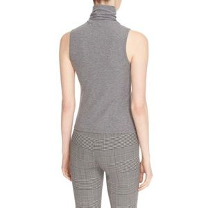 ee7bbb6a5b016 Theory Tops - New Grey Theory Wendel Sleeveless Turtleneck Top