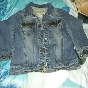 Children's Place Other - Little Girls JEAN Jacket with bling size 5/6