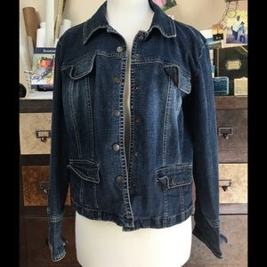 Live a Little Jackets & Blazers - Button front jean jacket.