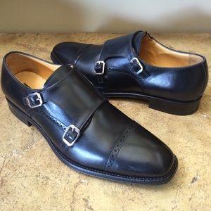 Gordon Rush Other - Gordon Rush Men's Black Leather Monkstrap Shoes