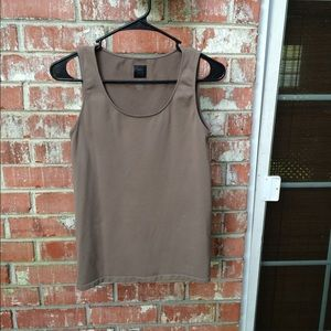 Saks Fifth Ave Taupe Tank
