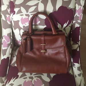 Elegant Cognac Coach Leather Bag