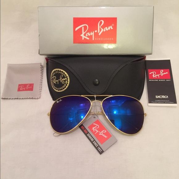 b3dfc85ddb Ray Ban Aviator Blue Purple Lens G-15 Sunglasses