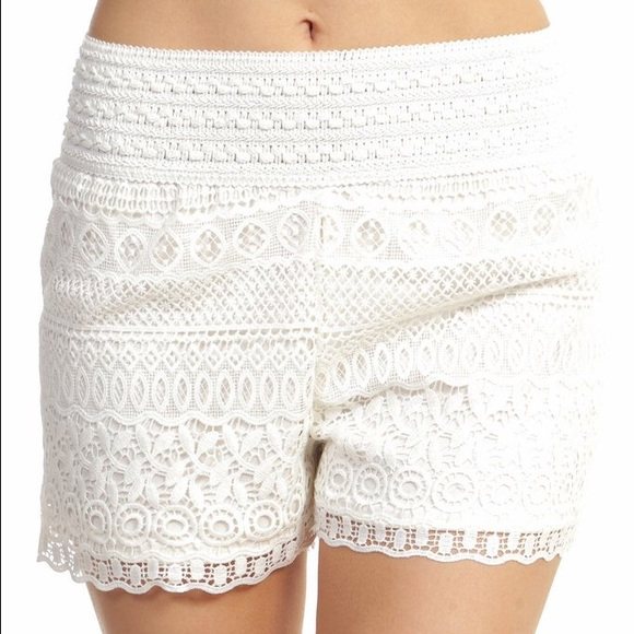 64% off pants - white crochet lace shorts plus size from shana's