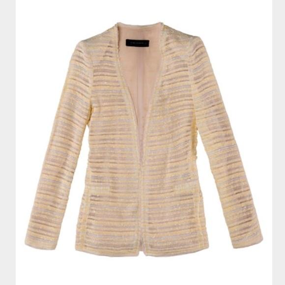 72% off Zara Jackets & Blazers - Zara Longline Boucle Tweed Blazer ...