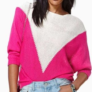Nastygal pink and white knit sweater