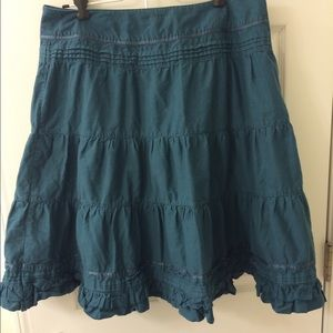 La Redoute Dresses & Skirts - La Redoute Teal Prairie Skirt knee length side zip
