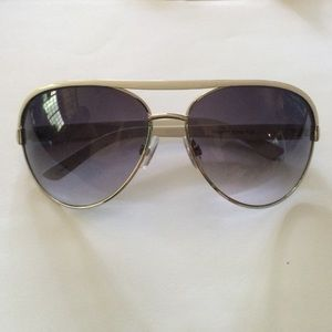 Accessories - New! White and Silver Black Gray Tint Sunglasses