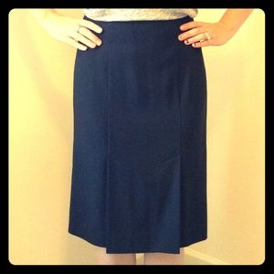 J.Crew wool double slit skirt