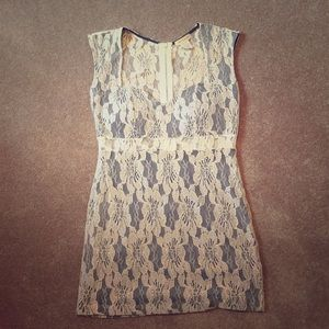 NWOT white/cream lace dress