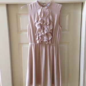 Beige flowy dress