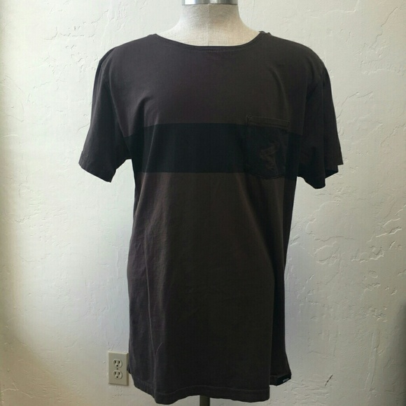 28 off other men 39 s rip curl t shirt wide collar brown t for Mens wide collar dress shirts