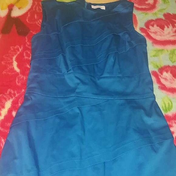bfeb2e17edd17 Calvin Klein Dresses   Skirts - Gorgeous Blue Pleated CK Sleeveless Dress