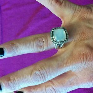 David Yurman Moonstone ring with diamonds