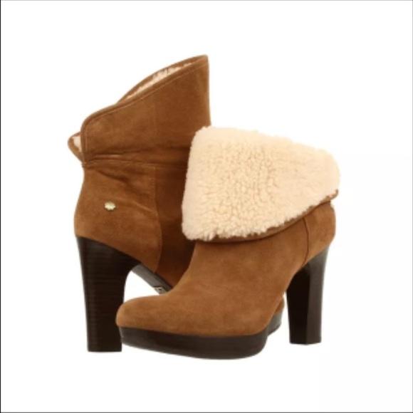 59a8da3c026 Ugg dandelion women ankle boots Chesnut sz 8-10 NWT