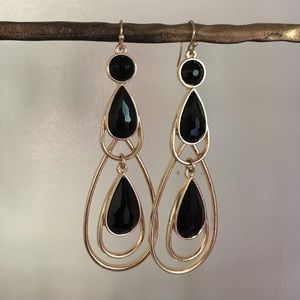 Mud Pie Jewelry - Black and gold earrings