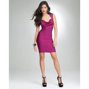 bebe Dresses & Skirts - BEBE OVER THE SHOULDER BANDAGE DRESS