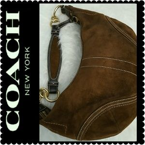 Coach Handbags - Coach Leather Suede Purse