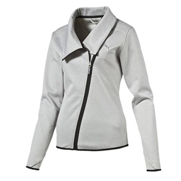 New PUMA Light Gray Warmcell Fleece Jacket