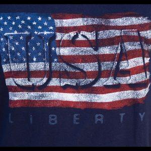 Gildan Shirts - 🆕American Flag Tank Top Sleeveless Navy Blue NEW