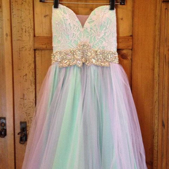 Jodi Kristopher Dresses | Seafoam Green Purple Prom Dress | Poshmark