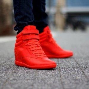 c70f98c4ad2 Reebok Shoes - Alicia Keys Red Wedge Reebok Sneakers