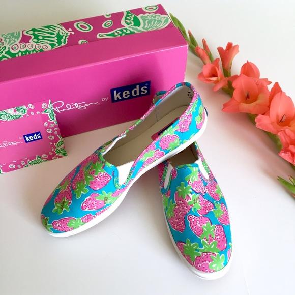 3ef54e4de95f9d Lilly Pulitzer Shoes   Nib Strawberry Keds Sneakers 75   Poshmark