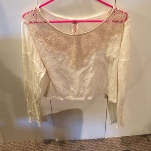 Free people long sleeve crop top