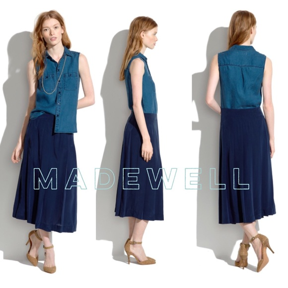 3cdc1ad77 Madewell Dresses & Skirts - 🔻Madewell🔻 Skyward silk maxi skirt / navy blue